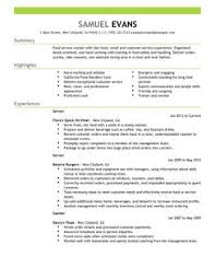 fast food server resume example resume format and sample