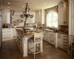 painted kitchen cabinets vintage cream:  vintage white kitchen cabinets theme ideas with black hanging lamp