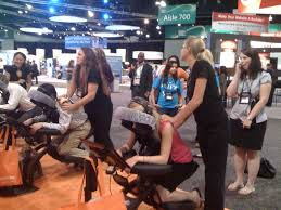 Image result for Chair Massage Trade show