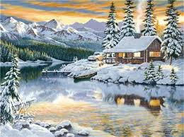 <b>AZQSD Diamond Painting</b> Winter Cross Stitch Diamond Embroidery ...