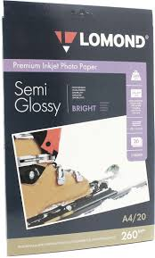 <b>Lomond Semi</b> Glossy Bright 260/A4/20л полуглянцевая ярко-белая ...
