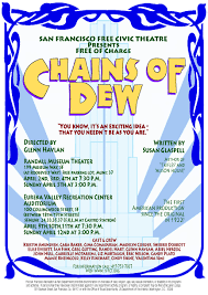 performances the international susan glaspell society the san francisco civic theatre performed the first professional american revival of chains of dew since 1922 on 2 12 2009 directed by glenn
