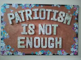 short essay on patriotism is not enough