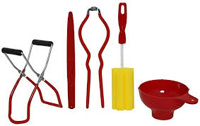 Roots & <b>Branches Five</b>-Piece Home Canning Kit, <b>small</b>, Red