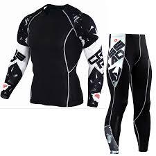 <b>Hot Sale Men's</b> Fitness Suits Compression Pants-<b>T</b>-Shirt Set 3d Print ...