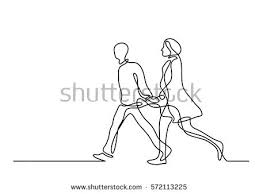 stock vector continuous line drawing of walking couple 572113225 walking stock images, royalty free images & vectors shutterstock on signs please walk printable