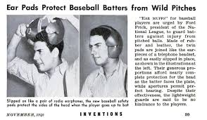 Image result for 1941 - The Brooklyn Dodgers announced that their players would begin wearing batting helmets during the 1941 season.