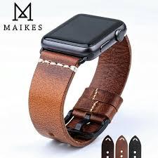 <b>MAIKES New</b> Design Genuine Leather <b>Strap</b> Band For Apple <b>Watch</b> ...