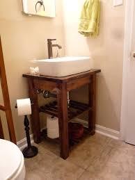 making bathroom cabinets: diy step by step bathroom vanity thinking would look nice for my half bath on