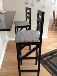 height bar stool wooden material high black painted pine wood bar stool with fabric padded seat winsome bar