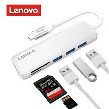 Lenovo <b>5 in 1 USB</b> Type C USB 3.0 Adapter USB C Data Hub Ultra ...