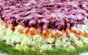 Картинки по запросу Рецепт приготовления салата «Сыр под шубой»
