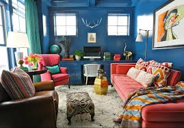 amazing interior design with a low budget price colorful home office interior with blue wall budget home office design
