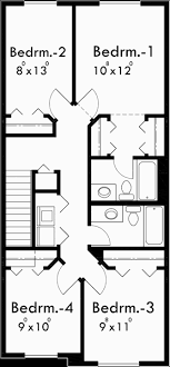 Narrow Lot House Plan  Affordable House Plan  Bedroom  Upper Floor Plan for Narrow lot house plans  affordable small house plans