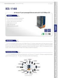 Datasheet_IES-1160_v1.1 | <b>Network Switch</b> | Ethernet