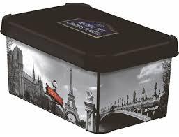 Коробка декоративная <b>Curver</b> Deco <b>Stockholm</b> S (<b>Париж</b>). Купить ...