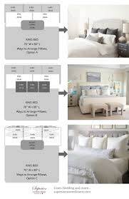master bedroom measurements  ways to arrange pillows on king size bed