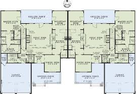 Multi Family Plan at FamilyHomePlans comCountry Craftsman Multi Family Plan Level One