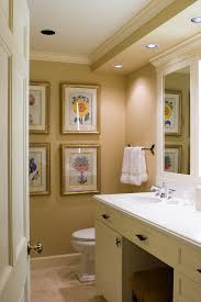 traditional bathroom lighting ideas bathroom traditional with gallery wall neutral colors botanical prints bathroom lighting ideas bathroom traditional