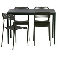 4 chair kitchen table: tarenda adde table and  chairs black length    quot