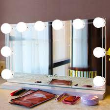 WALFRONT <b>10Pcs LED</b> Makeup Comestic Mirror <b>Light</b> Kit with ...