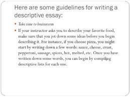 descriptive essay    youtube descriptive essay