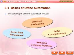 51 basics of office automation the advantages of office automation include increased productivity better data advantages of office automation
