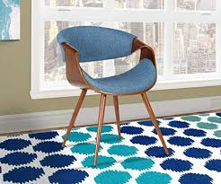 Armen Living Butterfly Dining Chair in Blue Fabric ... - Amazon.com