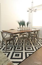 rectangle dining table base quotxquot hairpin  diy modern wood and metal dining table wm