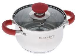 <b>Кастрюля Mayer & Boch</b> 1.5 л красный, металлик <b>Кастрюля</b> ...