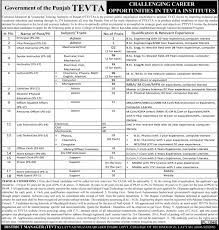 tevta jobs govt college of technology technical education and official advertisement for tevta jobs 2016 govt college of technology technical education and vocational training authority of punjab