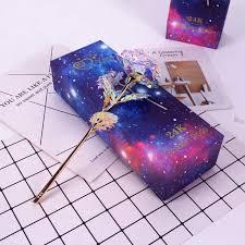 <b>Light Star Gold Foil</b> Rose Mother's Day Valentine's Day Present Gift ...