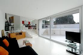 Paint For Open Living Room And Kitchen White Wall Paint House In Bright Interior Design Concept Madrid