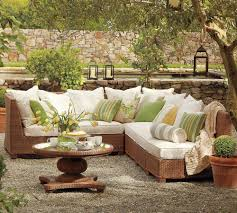 pottery barn outdoor green and beige furniture beige furniture