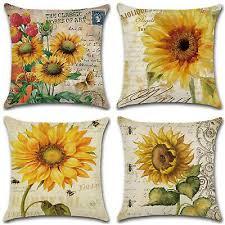 <b>Sunflower Print Square</b> Pillowcase Home <b>Sofa</b> Decor Pillow Cover ...