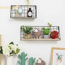 Fashion Home   <b>Iron Wall Mounted Storage</b> Rack Wall Hanging ...