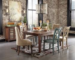 Pine Dining Room Chairs Drum Aluminium Pendant Lamp Brown Varnished Pine Wood Dining Table