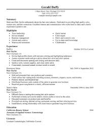 stylist resume examples hair  seangarrette costylist resume