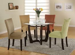 36 round glass dining table