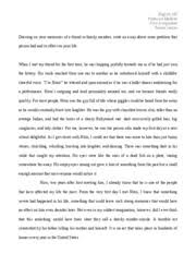 english    descriptive essay   english  professor mallette first