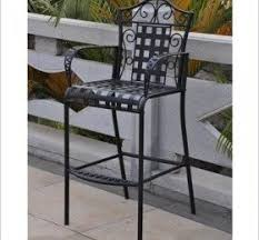 bar height patio chair: international caravan mandalay iron bar height patio chairs set of   ch