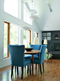 Teal Dining Room Chairs Castraveight New Blue Tweed Dining Room Chairs Update The Dining Room