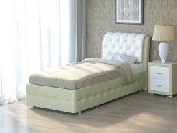 Кровать Veda 4 (Экокожа Кремовый с белым) 90x190, 1143830