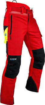 pfanner arborist chainsaw trousers red - Google Search ...