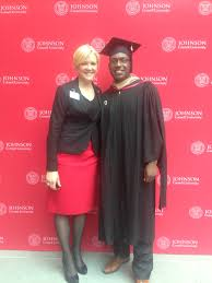 my mba story from bloomingdale s to cornell b school battle baxter at graduation johnson s director of admissions christine sneva