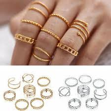 <b>8pcs</b>/Set <b>Women</b> Silver <b>Gold</b> Plated Simple Midi Finger Knuckle ...