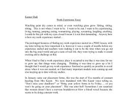 essay on writing experience writing experience essay example for teenagers having a job is experience essay examples