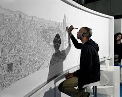 See This Incredible Artist Draw a Whole <b>City</b> From Memory