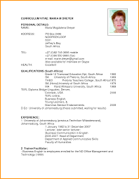 cv format in sa letter format mail cv format in sa how create a resume personal details feat qualifications and work experience sample png