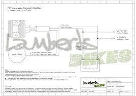 regulator rectifier lamberts bikes 2 phase 4 wire regulator rectifier wiring diagram